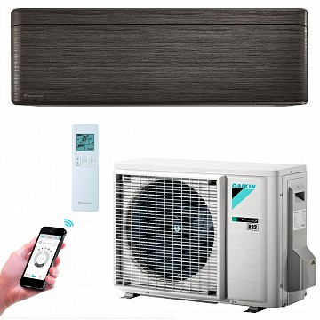 Conditioner STYLISH FTXA25AT+RXA25A blackwood A+++ 25m2 9000BTU Inverter